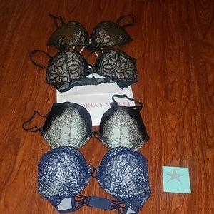 Victoria's Secret BOMBSHELL NWT Pushup Bra 32D Blu
